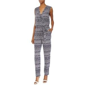 DVF Rowena Moroccan Ditsy Silk Romper Jumpsuit 8